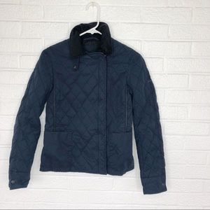 Lacoste Navy Blue Quilted Jacket Size 36 Small